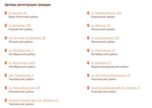 адреса отделений мфц в екатеринбурге